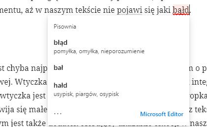 Przeglądarkowa wersja Microsoft Editur